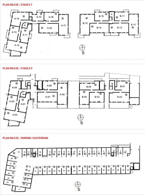 plans de masse de la copropriété - image 1