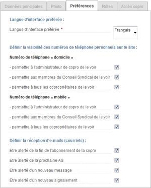 préférences utilisateur - image 1