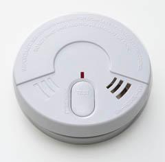 photo : détecteur de fumée (DAAF) avec bouton-poussoir de test