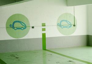 places de parking pour véhicules électriques