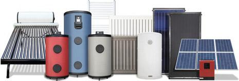 exemples d'équipements solaires thermiques et panneaux photovoltaiques